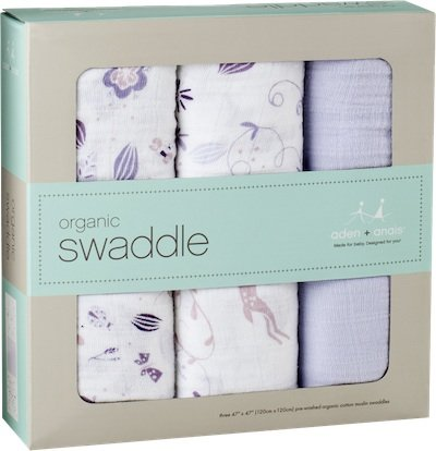 Aden + Anais Bamboo Swaddle Blankets ($45 for three)