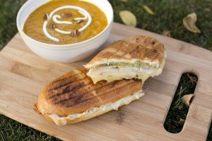 Butternut Soup and Paninis