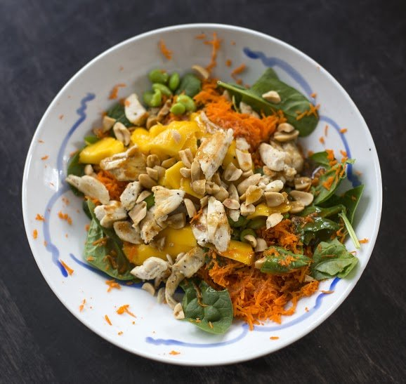 Sesame-Ginger Chicken and Mango Salad
