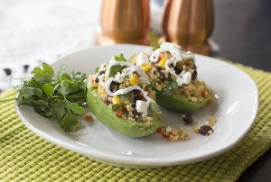 CVFM-quinoa stuffed avocado