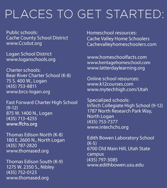 List of Cache Valley schools