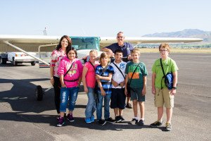 Jann and her students at Logan-Cache Airport.