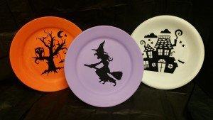 Halloween Silhouette Plates