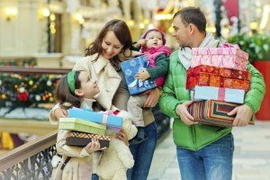 Family members shopping together