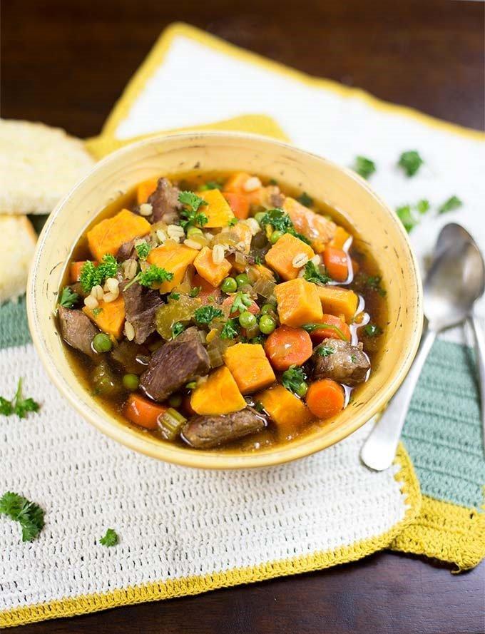Crockpot Beef and Barley Stew