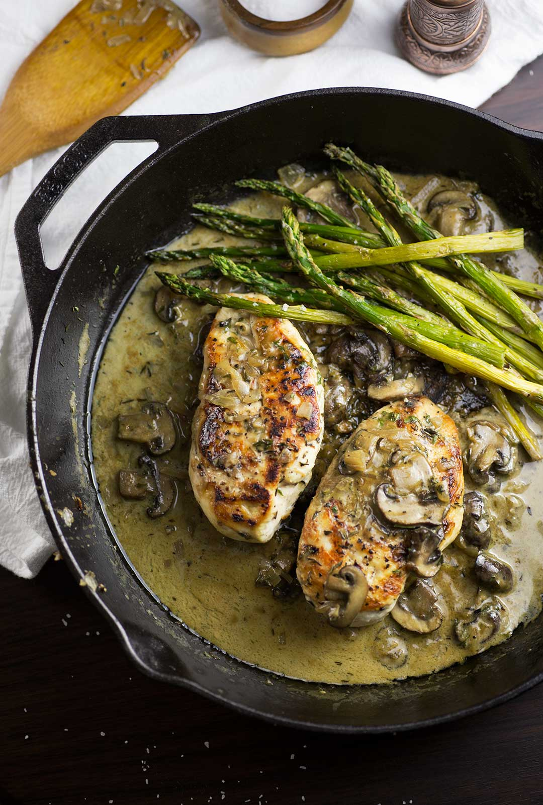 One-Skillet Creamy Chicken with Mushrooms