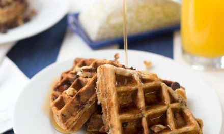 Chocolate Chip Banana Walnut Waffles