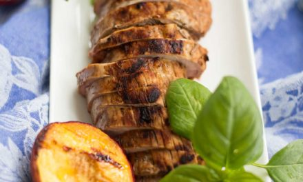 Pork with Peaches and Basil