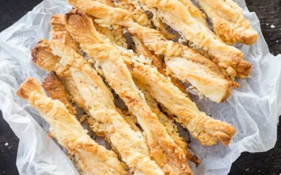 Easy Puff Pastry Breadsticks