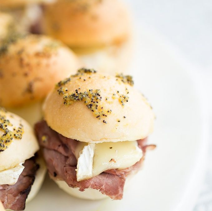 Roast Beef, Brie Cheese, and Pepper Jelly Sliders