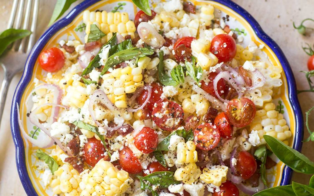 Fresh Corn-off-the-Cob Salad