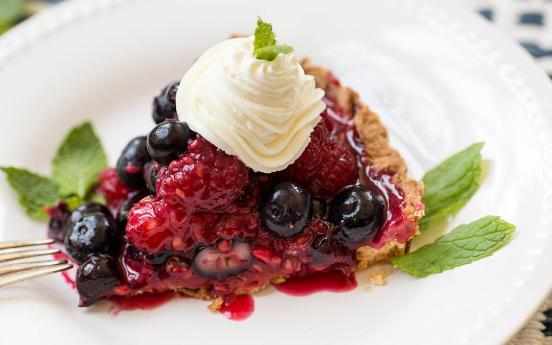 Raspberry Blueberry Tart