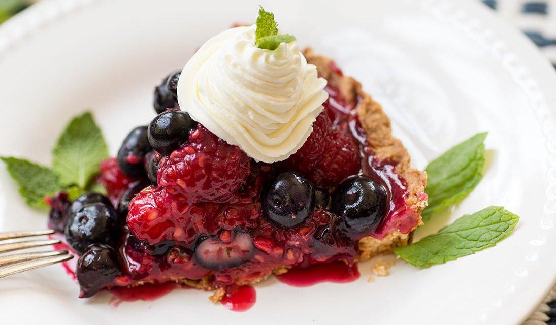Raspberry Blueberry Tart