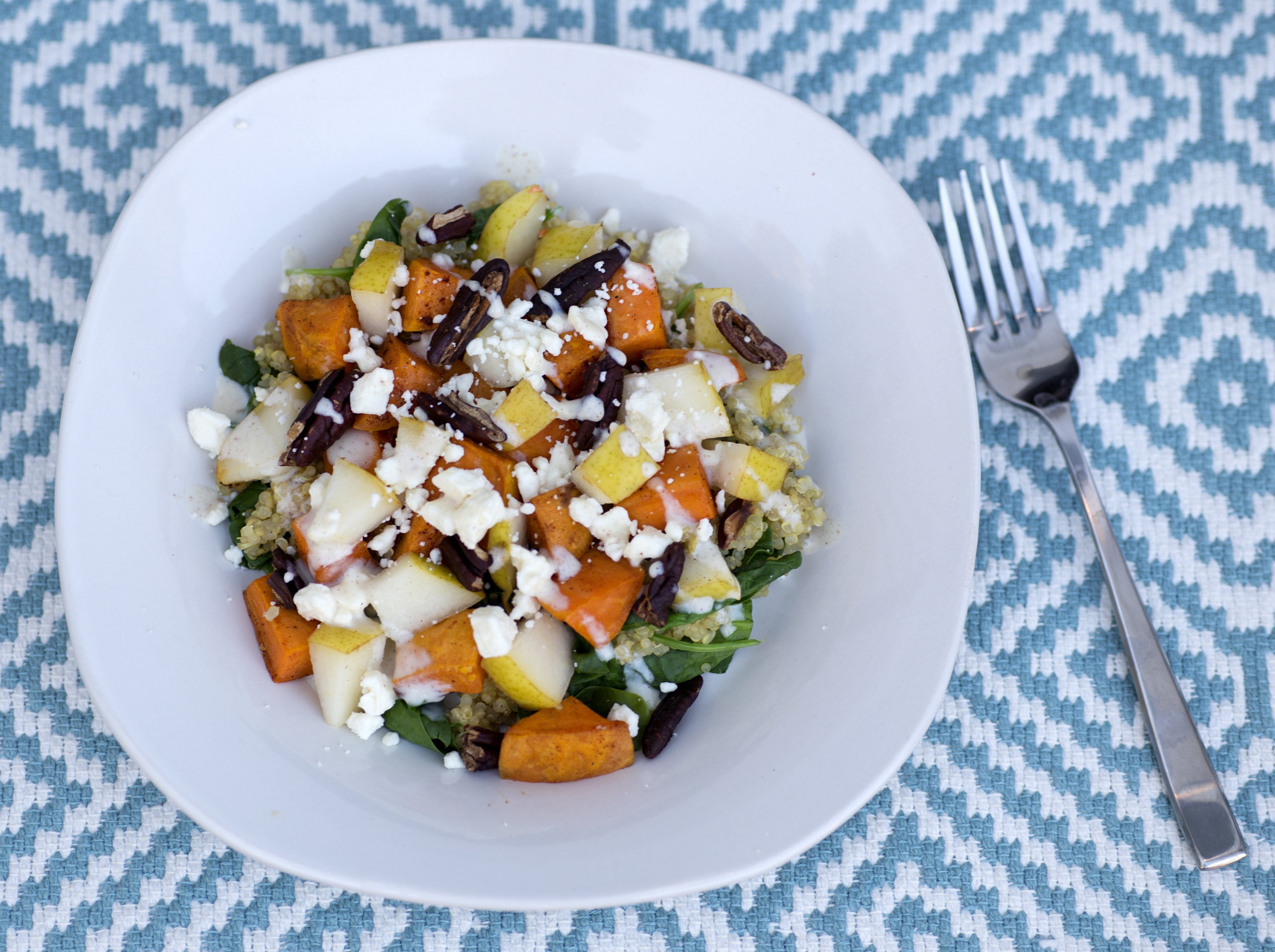 Sweet Potato Quinoa Salad with Maple Dressing