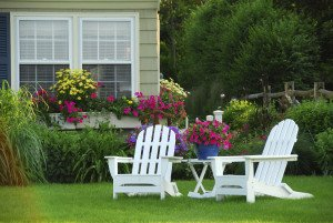 Two lawn chairs
