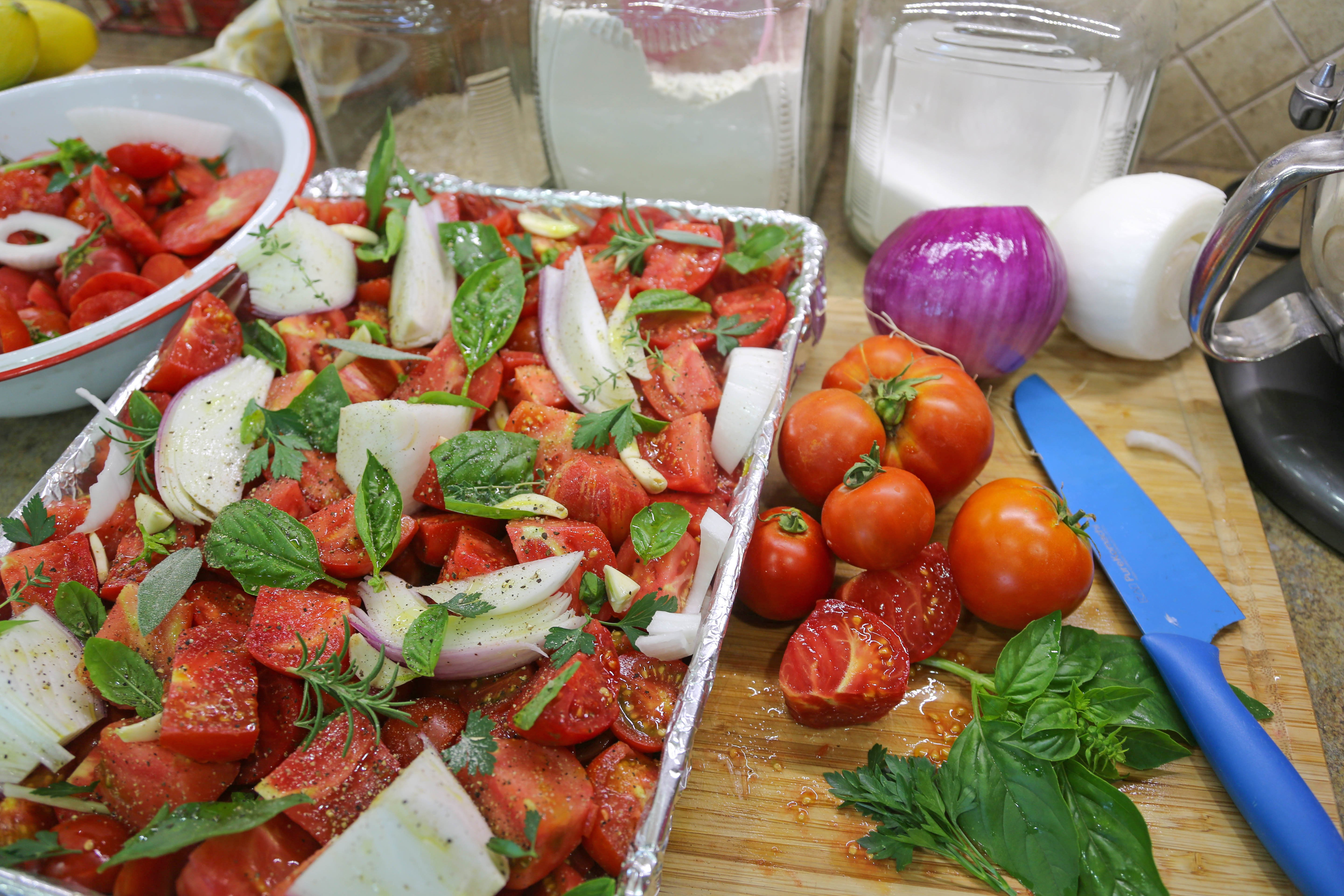 From the Farmer's Wife: Fresh-Roasted Summer Garden Pasta Sauce