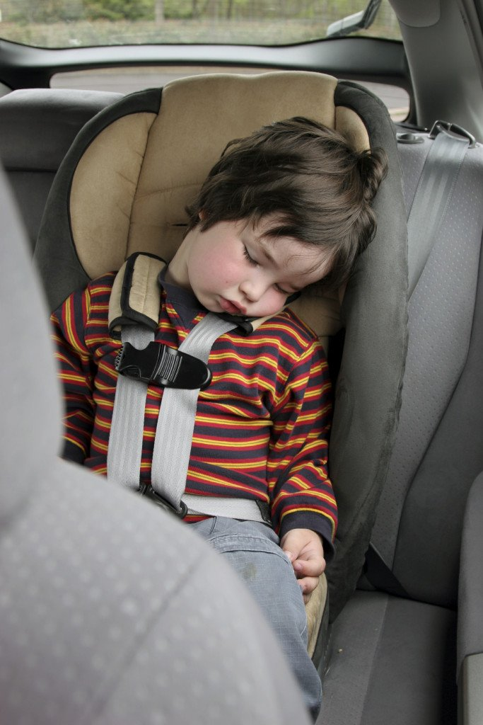 Child Sleeping in Car