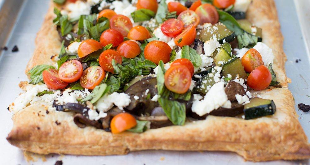 Veggie Puff Pastry Pizza