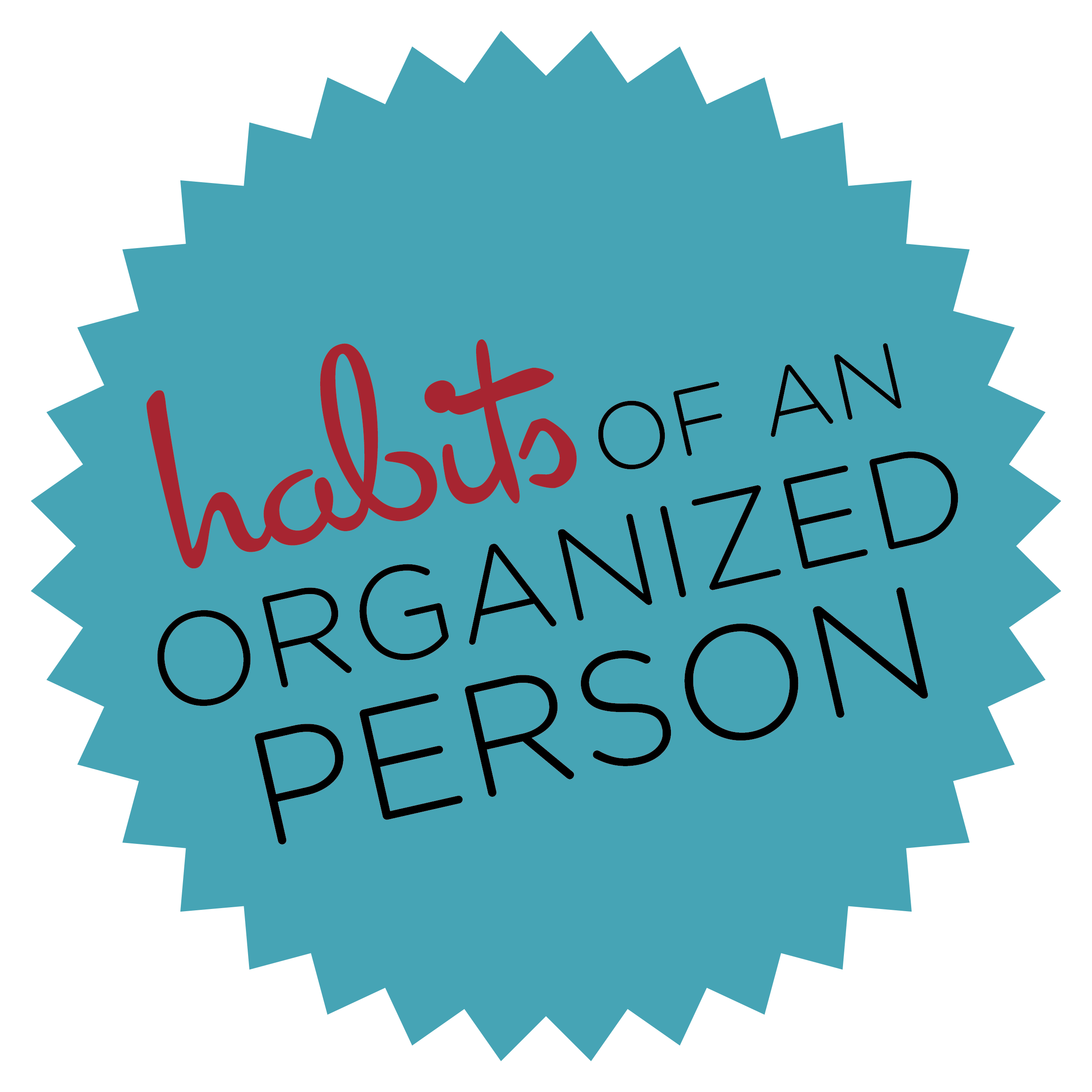 Habits of an Organized Person: Find What Works For You