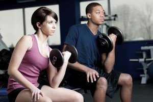 Weightlifting at the gym