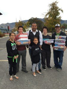 The Gonzales family at an Alpine Church Mission's Week project.