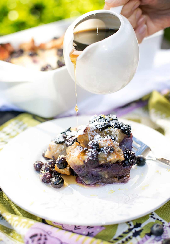 Overnight Blueberry Bake