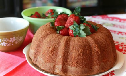 From the Farmer's Wife: Cream Cheese Coconut Pound Cake with Strawberries