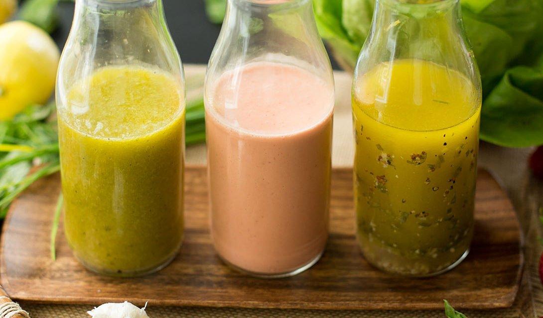 Three Spring Salad Dressings