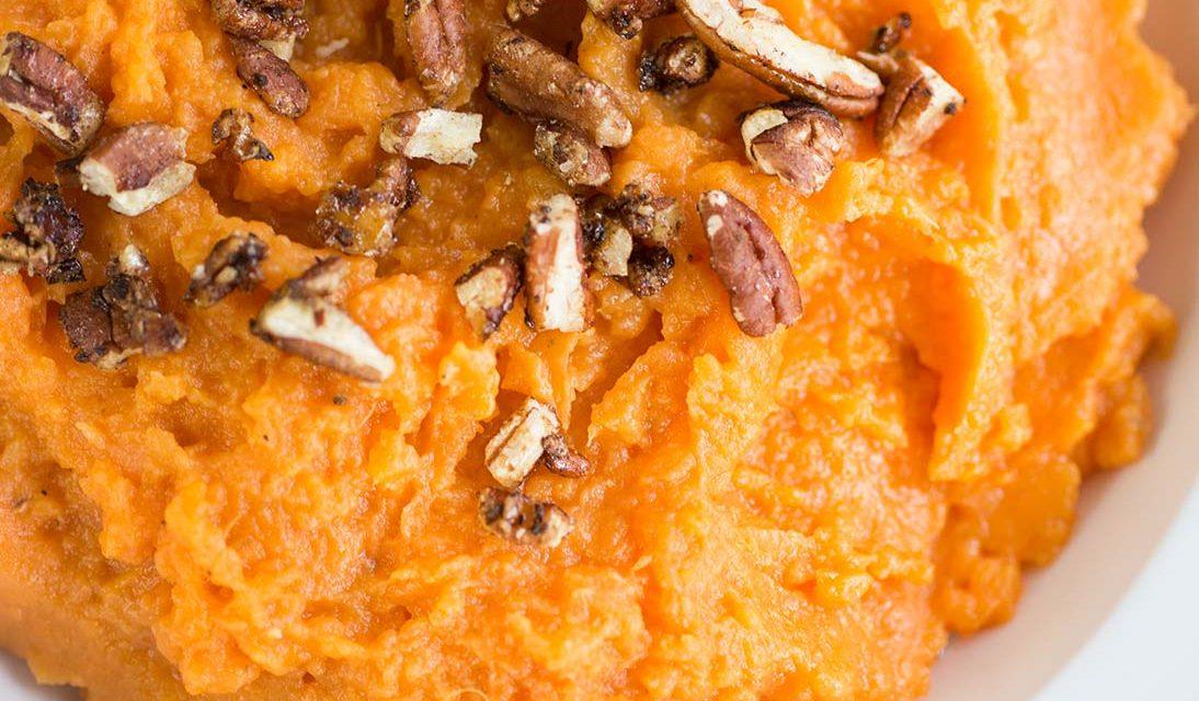 Maple-Pecan Mashed Sweet Potatoes