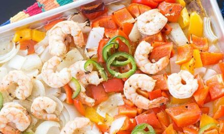 One-Pan Shrimp Fajitas