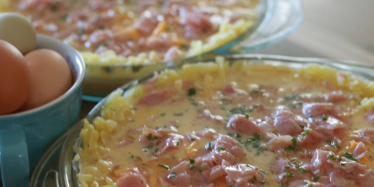 Hash Brown Crust Quiche