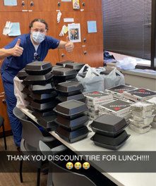Discount Tire Delivers Happiness to Local Health Care Workers