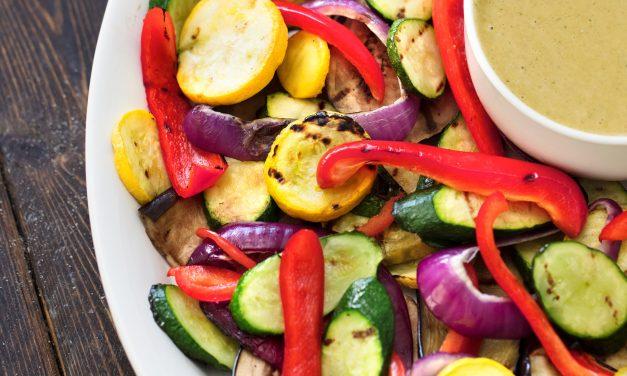 Basil- Soaked Grilled Vegetables